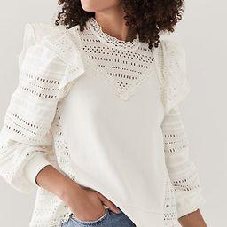 Lina Eyelet Long Sleeve Combo Sweatshirt | Shopbop