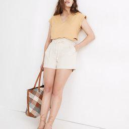 Drawstring Pull-On Paperbag Shorts | Madewell