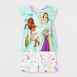 Toddler Girls' Disney Princess Pajama Set - Green   Target