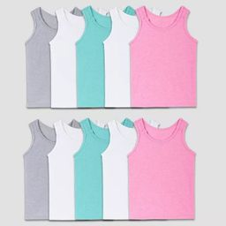 Fruit of the Loom Toddler Girls' 10pk Tank Top - Colors May Vary   Target