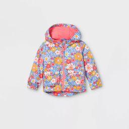 Toddler Girls' Floral Print Windbreaker Jacket - Cat & Jack™ Pink   Target