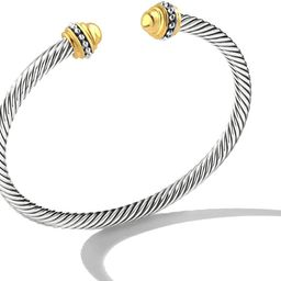 Mytys Cable Wire Cuff Bangles for Women,Mytys Retro Antique Gold Cable Bracelet Christmas Gift Ba... | Amazon (US)