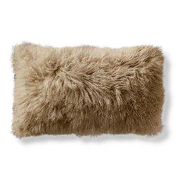 Mongolian Fur Lumbar Decorative Pillow Cover | Frontgate | Frontgate