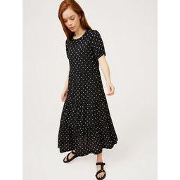 Free Assembly Women's Short Sleeve Tiered Maxi Dress | Walmart (US)
