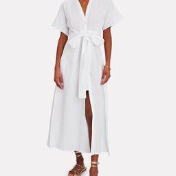 Ines Cotton Gauze Shirt Dress | INTERMIX