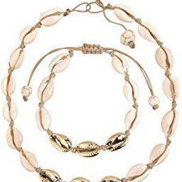 Believe London Natural Shell Necklace Bracelet Anklet Choker Seashell Women Men Statement Adjusta... | Amazon (US)
