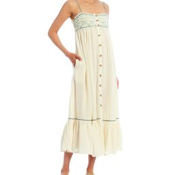 Linda Jo Sleeveless Button Front Midi Dress   Dillards