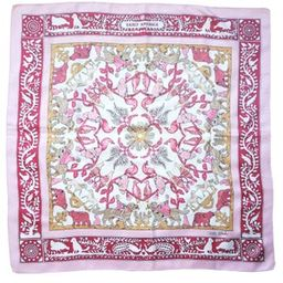 Vintage  Hermes silk scarf 90cm Early America by  Francoise de la Perriere Pink Carre Foulard | Etsy (US)