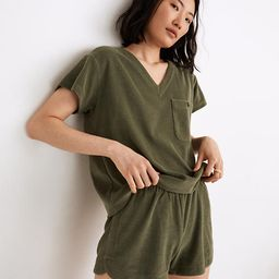 MWL Retroterry V-Neck Pocket Top   Madewell