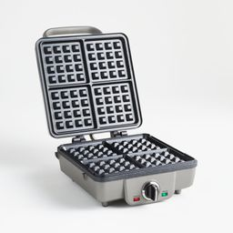 Cuisinart Belgian Waffle Maker with Pancake Plates | Crate and Barrel | Crate & Barrel