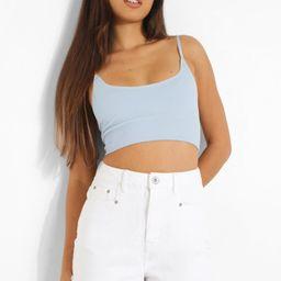 High Waist Frayed Hem Denim Shorts | Boohoo.com (US & CA)