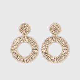 Open Circle Seed Bead Drop Earrings - A New Day™   Target