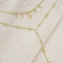 Under the Palms 18k Gold Plated Layered Lariat Necklace | Ettika