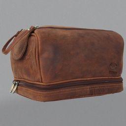 Rustic Town Genuine Leather Toiletry Bag Hygiene Organizer Travel Kit for Men Women | Walmart (US)