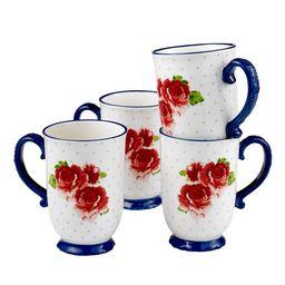 The Pioneer Woman Heritage Floral 4-Piece Mug Set, 18 fl oz | Walmart (US)