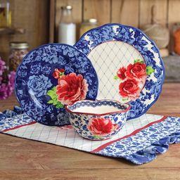The Pioneer Woman Heritage Floral 12-Piece Dinnerware Set | Walmart (US)