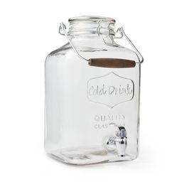 Better Homes & Gardens 2 Gallon Glass Beverage Dispenser with Glass Clamp Lid | Walmart (US)