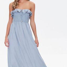 Strapless Ruffle-Trim Maxi Dress   Forever 21 (US)