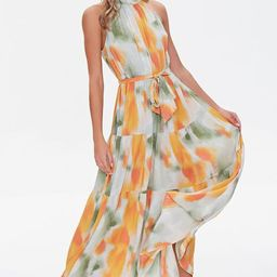 Watercolor Wash Halter Maxi Dress   Forever 21 (US)