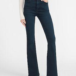 Super High Waisted Dark Wash Flare Jeans | Express