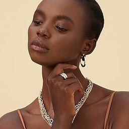 Express x Luv AJ Mini Celine Hoop Earrings | Express