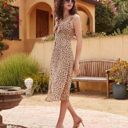 Cheetah Print Tie-Front Dress   Forever 21 (US)