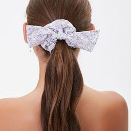 Floral Print Bow Scrunchie   Forever 21 (US)