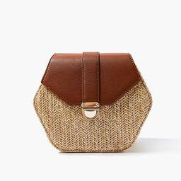 Basketwoven Hexagon Crossbody Bag   Forever 21 (US)
