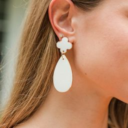 Take The Leap White Earrings   The Mint Julep Boutique