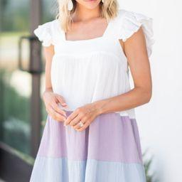 Feeling So Sweet Blue Colorblock Dress | The Mint Julep Boutique