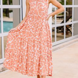 Need You More Coral Pink Animal Print Dress   The Mint Julep Boutique