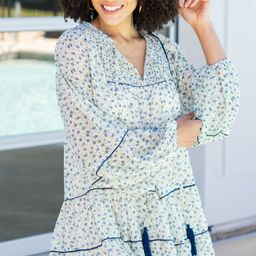 Take Me Out Ivory White Ditsy Floral Dress | The Mint Julep Boutique