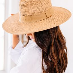 Find The Sun Tan Brown Straw Hat   The Mint Julep Boutique