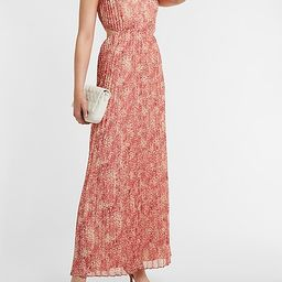 Printed Side Cut-Out Maxi Dress | Express