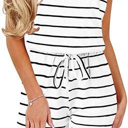 ANRABESS Women Summer Loose Solid Sleeveless Jumpsuit Rompers Spaghetti Strap Adjustable Waist Sh...   Amazon (US)