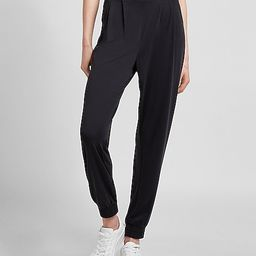 Super High Waisted Silky Sueded Jersey Joggers | Express
