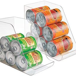 mDesign Large Standing Kitchen Can Dispenser Storage Organizer Bin for Canned Food, Soup, Dog Foo...   Amazon (US)