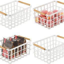 mDesign Farmhouse Decor Metal Wire Food Organizer Storage Bin Basket with Bamboo Handles for Kitc...   Amazon (US)