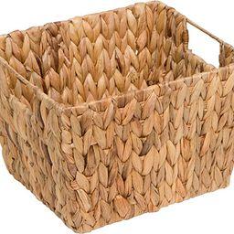 "11.5"" Hyacinth Storage Basket with Handles, Rectangular, by Trademark Innovations   Amazon (US)"