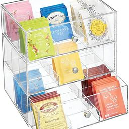 mDesign Plastic Kitchen Pantry, Cabinet, Countertop Organizer Storage with 3 Drawers for Coffee, ...   Amazon (US)
