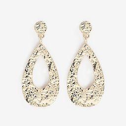 Hammered Gold Teardrop Earrings | Express