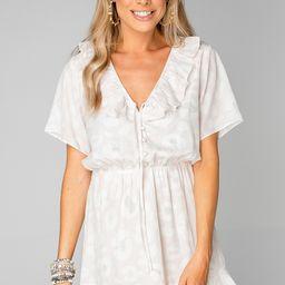 Trixy Ruffled Mini Dress - Vanilla | BuddyLove