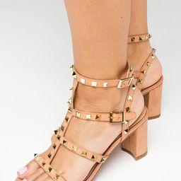 Carol Studded Heel - Pink | BuddyLove
