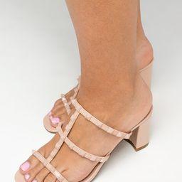 Carol Studded Heel - Patent Nude | BuddyLove
