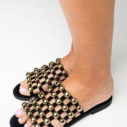 Star Abbey Sandal - Black | BuddyLove
