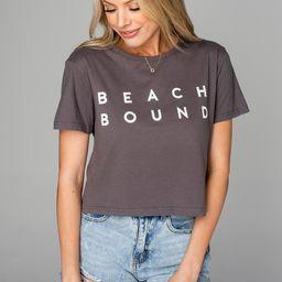 Aaron Cropped Graphic Tee - Beach Bound | BuddyLove