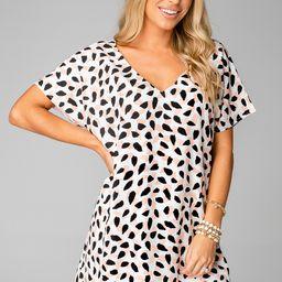 Baker V-Neck Shift Dress - Flamingo   BuddyLove