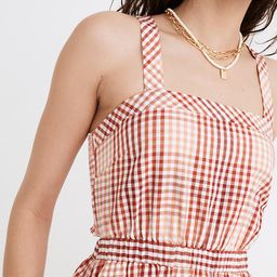 Cutout-Back Midi Dress in Gingham Plaid | Madewell