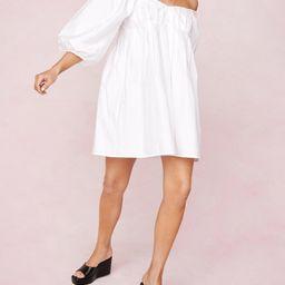 Puff Sleeve Off the Shoulder Mini Dress | NastyGal