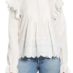 Eyelet Lace Pintuck Cotton Blouse   Nordstrom